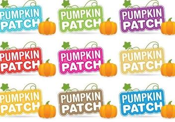 Pumpkin Patch Titles - Free vector #346003