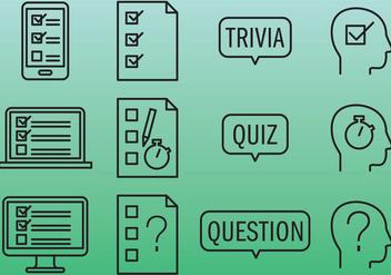 Quiz Icons - Free vector #346013