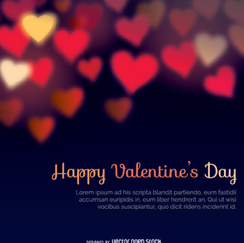 Happy Valentine's Days bokeh heats background - Free vector #346153