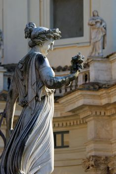 Sculpture Goddess of Abundance in Piazza del Popolo, Rome, Italy - Free image #346213