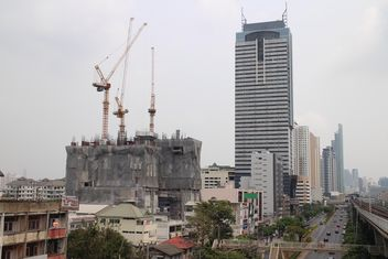 High-rise building under construction, Bangkok Thailand - бесплатный image #346243