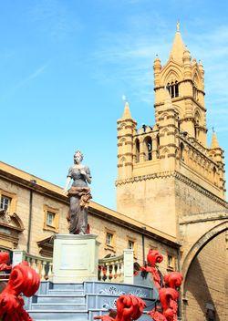 Tower on Palazzo dei Normanni, Saint Rosalia, Palermo - Free image #346253