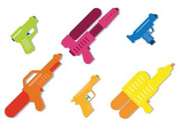 Water Gun Vector - Kostenloses vector #346313