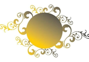 Golden Circle Ornament Badge - vector gratuit(e) #346503