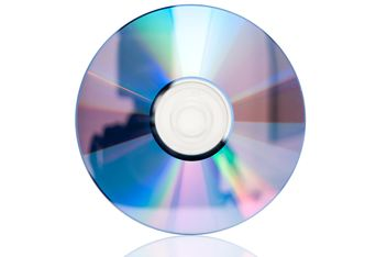 CD closeup isolated over white background - image gratuit(e) #346633
