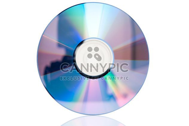 Closeup CD isolé sur fond blanc - image gratuit #346633