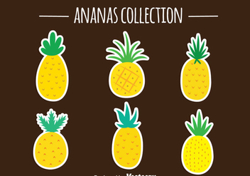 Pineapple Ananas Vector Collection - vector gratuit #346703