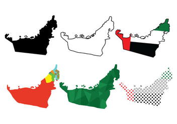 UAE Map Vectors - vector gratuit #346723