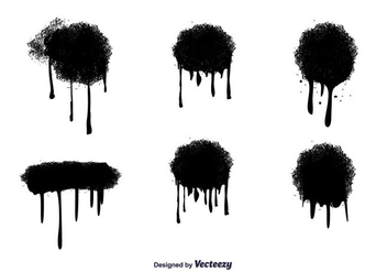 Vector Spray Paint Drips - Kostenloses vector #346763