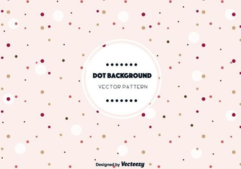 Cute Dot Background Vector - Kostenloses vector #346833
