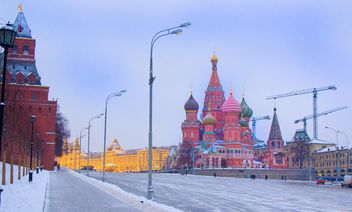 Cathedral of Saint Basil the Blessed on winter Red Square, Moscow - Kostenloses image #346963