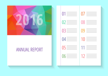 Annual Report Design - бесплатный vector #347043