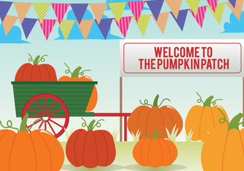 Pumpkin Patch Vector - Free vector #347053