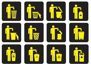 Dumpster Trash Vectors - Free vector #347063