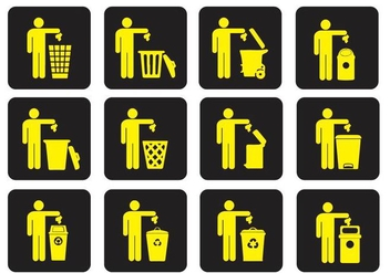 Dumpster Trash Vectors - vector #347063 gratis