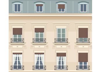 Vector Building in Paris - Free vector #347083