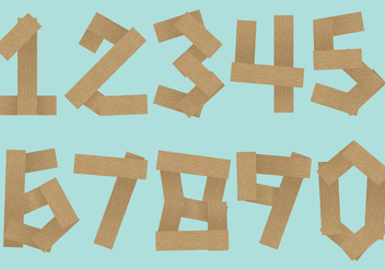 Wood Log Number Vectors - vector gratuit #347093