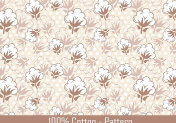 Vector Cotton Plant Pattern - Kostenloses vector #347123