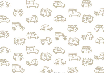 Classic Cars Pattern - Free vector #347393