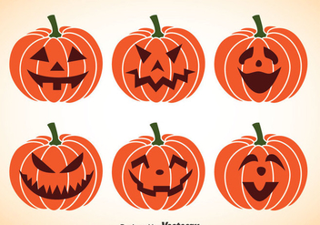 Pumpkin Jackolantern Vectors - Free vector #347413