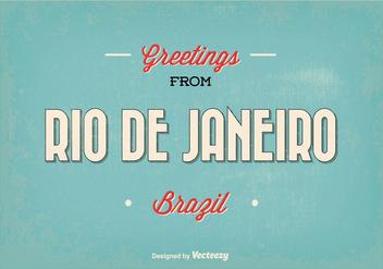 Retro Rio de Janeiro Greeting Illustration - Free vector #347433