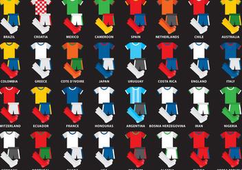 International Soccer Kits - Free vector #347443