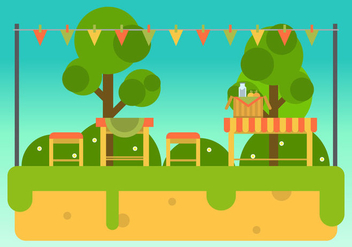Free Family Picnic Vector Illustrations #4 - Kostenloses vector #347463