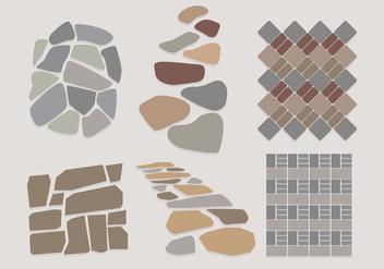 Stone Path Vectors - Free vector #347533
