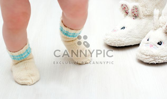 Legs of child in warm socks - Free image #347923