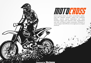 Free Vector Motocross Background - vector gratuit #348063