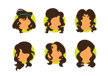 Free Girl Curly Hair Vector - Free vector #348073