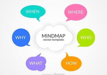 Free Mindmap Vector Template - Kostenloses vector #348113