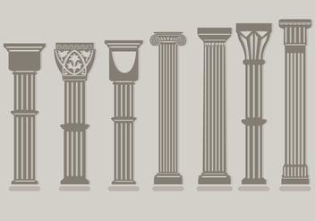 Roman Pillar Vectors - vector gratuit #348153