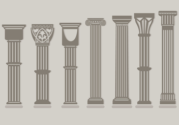 Roman Pillar Vectors - Free vector #348153