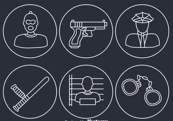 Criminal Element Icons - Free vector #348283