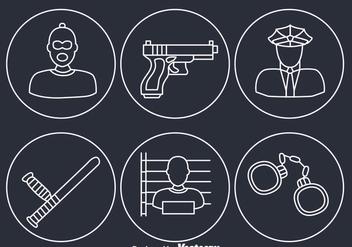 Criminal Element Icons - Kostenloses vector #348283