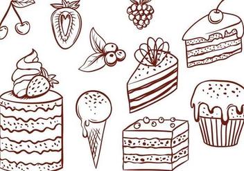 Free Cake Vectors - Free vector #348293