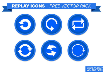 Replay Icons Free Vector Pack - Free vector #348303