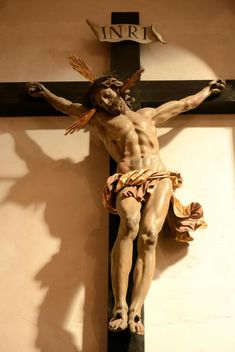 Statue of Jesus Christ on cross - Free image #348413