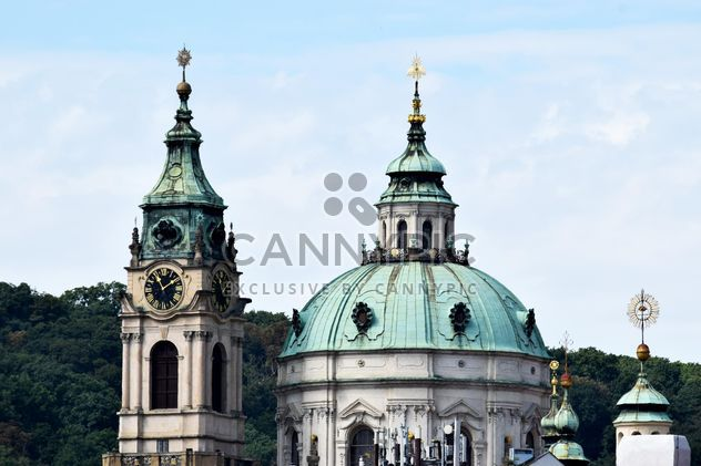 Steeple and clock tower of St. Nicholas Cathedral in Prague, Czech Republic - Free image #348603