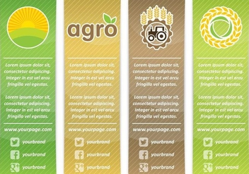 Agro Vertical Banners - Kostenloses vector #348743
