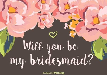 Will You Be My Bridesmaid - Free vector #349083