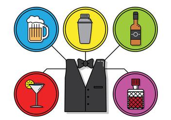 Barman Vector - Free vector #349113