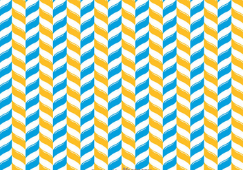 Orange And Blue Chevron Pattern - Free vector #349203