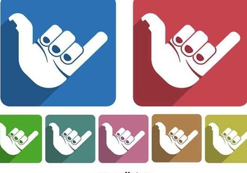 Shaka hand icon - Free vector #349273
