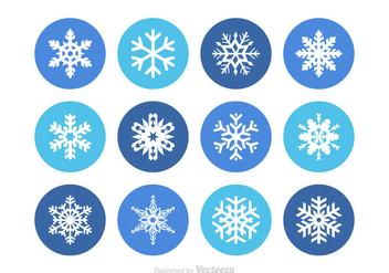 Free Snowflake Vector Set - Free vector #349523