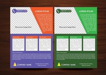 Vector Brochure Flyer design Layout template in A4 size - vector gratuit #349613