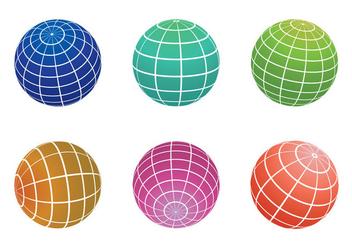 Globe Grid Vector - vector #349663 gratis