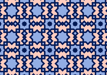 Square Arabic Pattern Vector - Free vector #349763