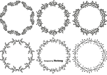 Hand Drawn Style Vector Frame Set - Free vector #349813